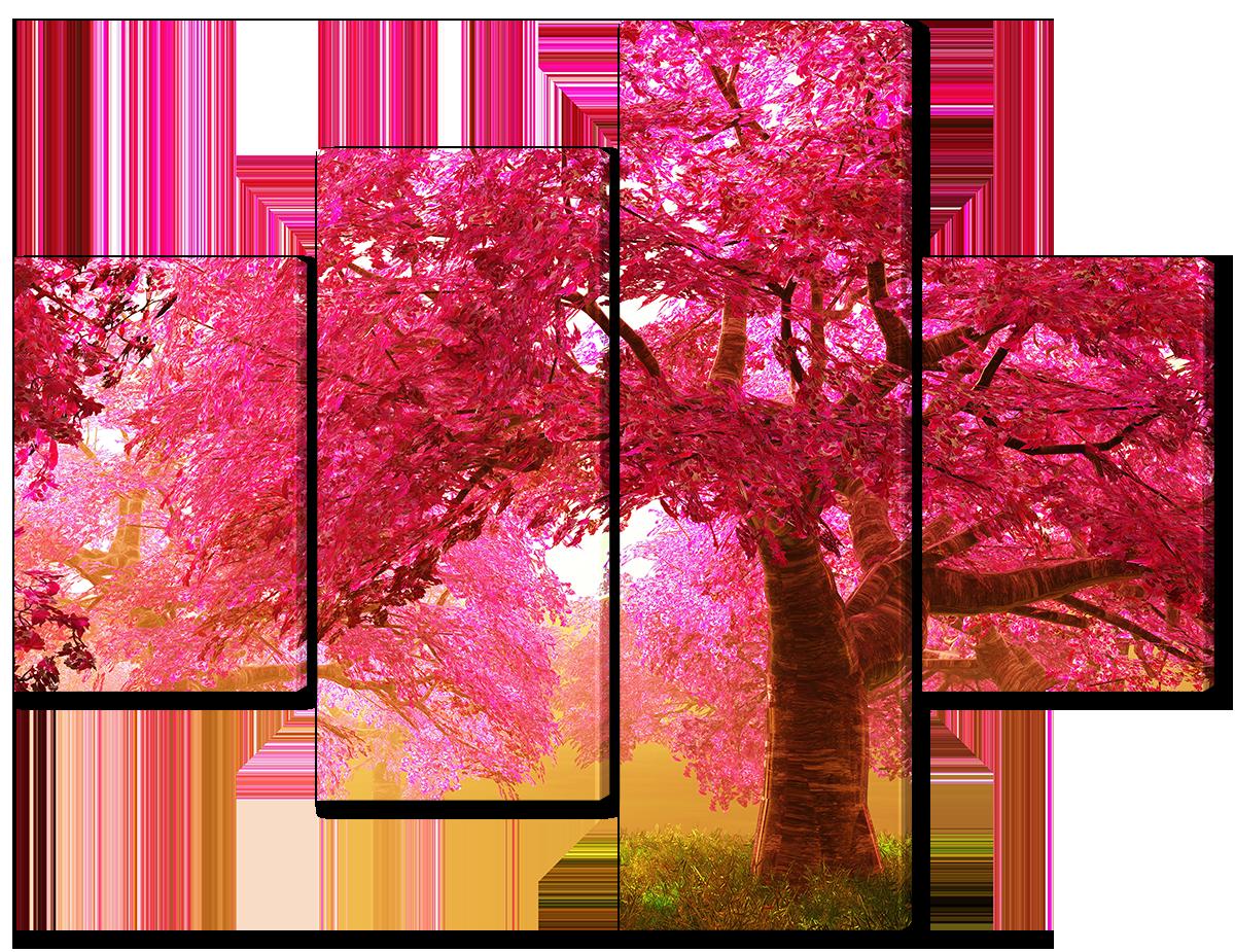 Модульная картина Interno Эко кожа Космо город 126x94см (A1661M)