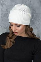 Женская шапка «Кэт» со стразами