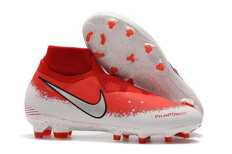 Бутсы Nike Phantom Vision Elite DF FG red/white