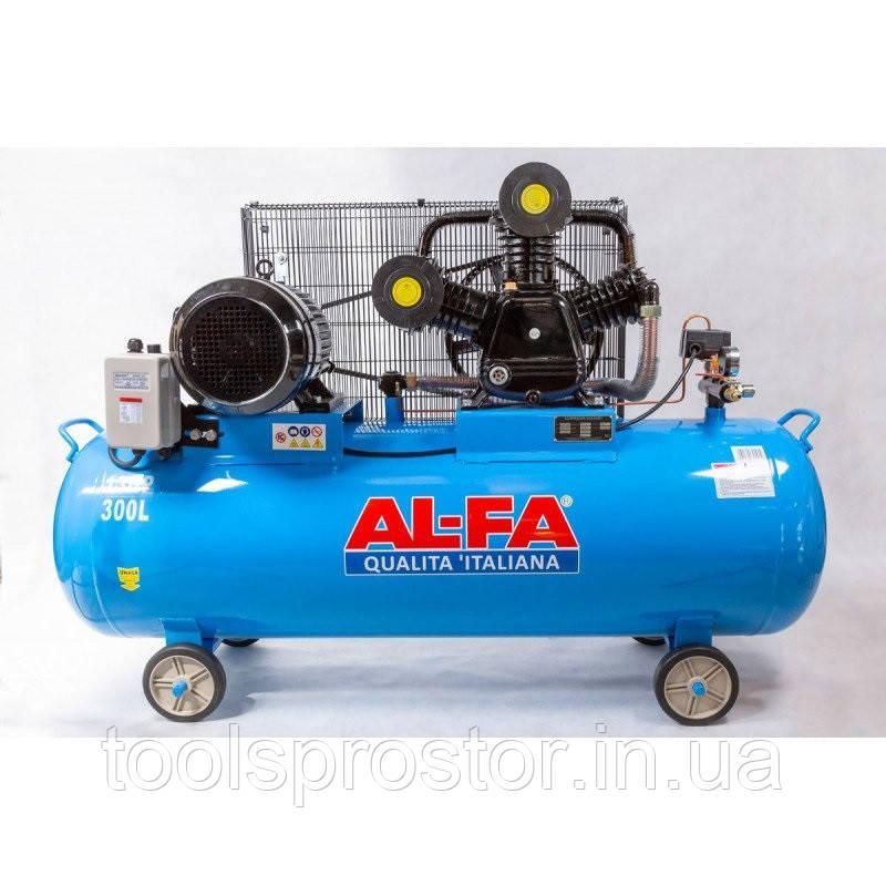 Компрессор AL-FA ALC300-3 : 5.2 кВт - 300 л. | Чугунный блок (3-x поршневый масляный)