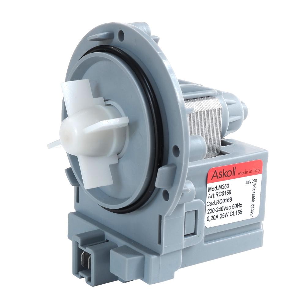 Насос сливной универсальный Askoll M253 25W для стиральных машин Whirlpool