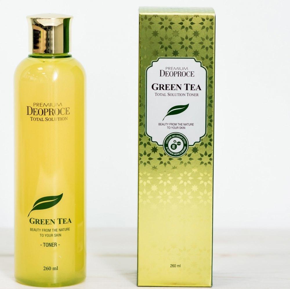Тонер с зеленым чаем Premium Deoproce Green Tea Total Solution Toner