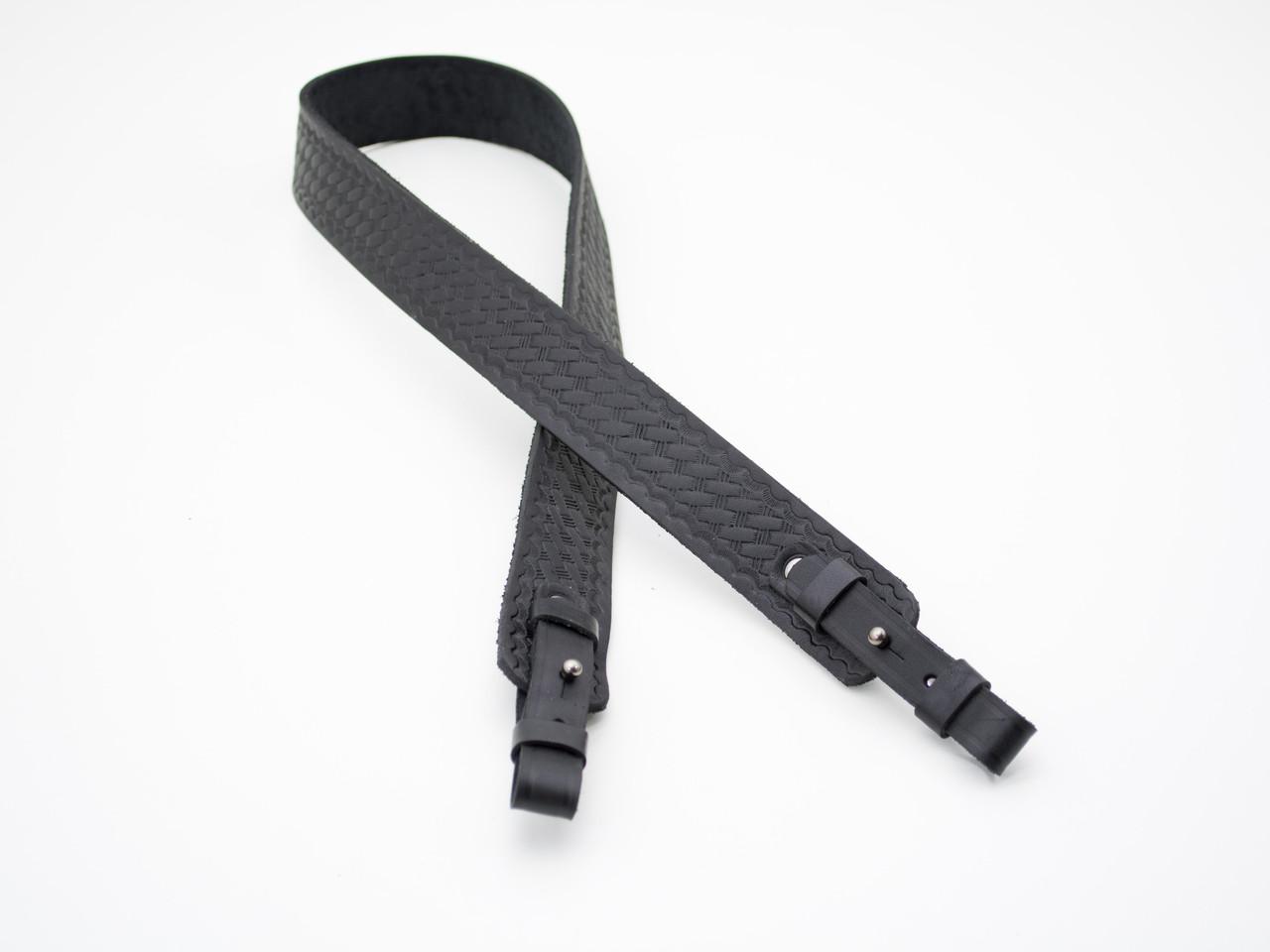 Ремень для ружья прямой тисненый №1 кожаный 5013