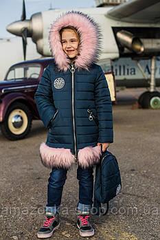 Зимнее пальто для девочек - сезон 2019 - (модель КТ-503)