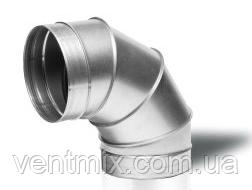 Отвод 90* диаметр 100 мм из оцинкованной стали