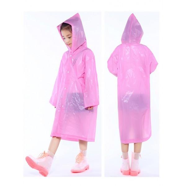 🔝 Дощовик дитячий, колір - рожевий, дощовик, EVA , Дождевики детские, фото 1