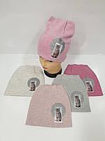 Детские демисезонные вязаные шапки для девочек оптом, р.48-50, ANPA (Польша), фото 1