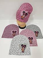 Детские демисезонные вязаные шапки для девочек оптом, р.50-52, ANPA (Польша), фото 1