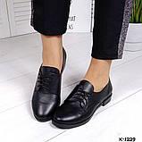 Классические черные женские туфли на шнуровке, фото 6