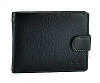 Мужское черное портмоне на кнопке Horton Collection Tr462A