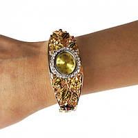 🔝 Часы наручные, женские часы, кварцевые часы, цвет - золотистый, модные женские часы | 🎁%🚚