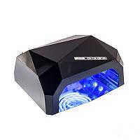 🔝 Ультрафиолетовая лампа, цвет - Черный, 36 Вт., Beauty nail CCF + LED, сушилка для ногтей, лед лампа, Лампи для манікюру і педикюру, Лампы для