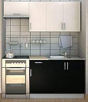 Эконом кухня Киев - фасад Сакура черная
