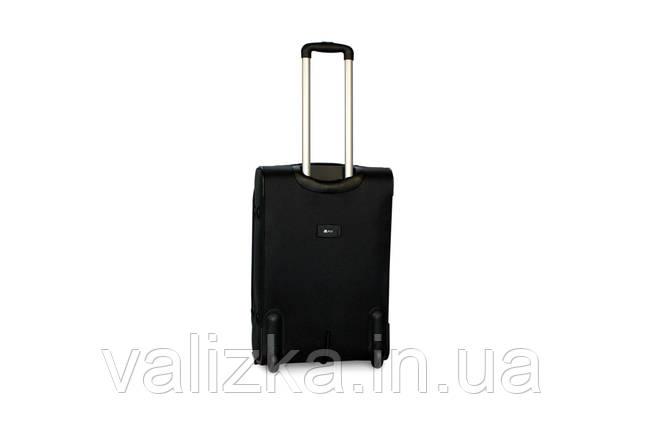 Средний текстильный чемодан на 2-х колесах с расширителем  Fly черный, фото 2