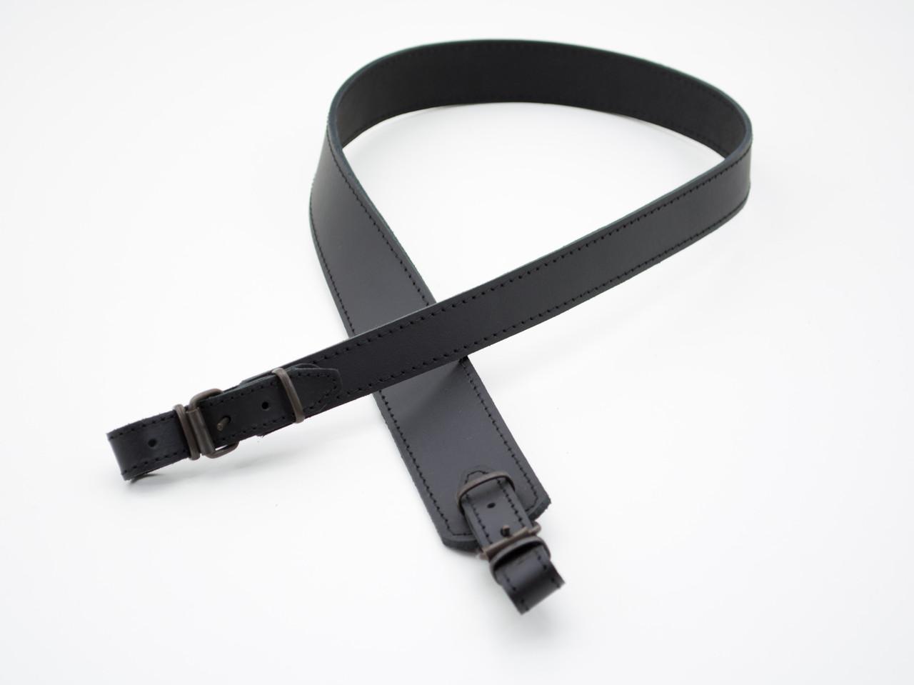 Ремень для ружья трапеция кожа-спилок черный 5026/1