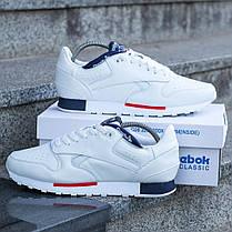 """Кроссовки Reebok Classic Leather """"Белые"""", фото 2"""