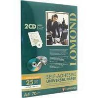 Наклейки на диски CD,DVD универсальная самоклеящаяся бумага под печать на принтере