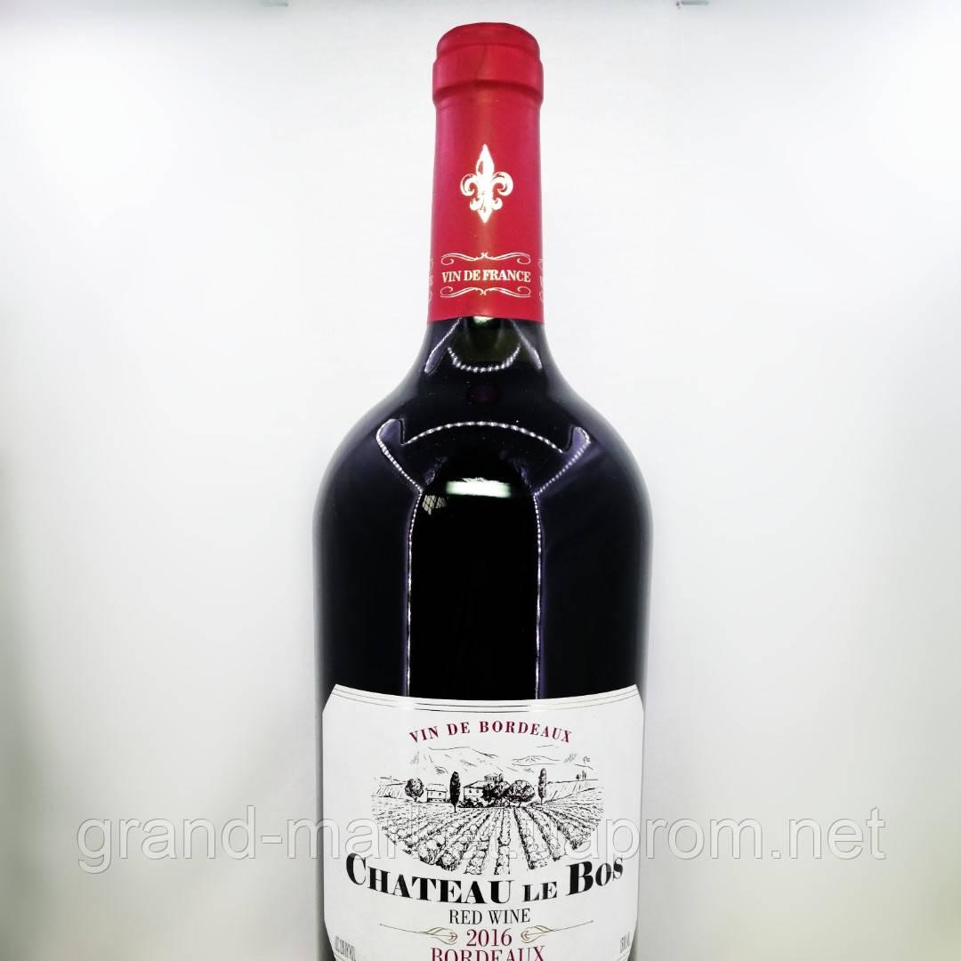 """Вино червоне """"Chateau le Bos Bordeaux 2016"""" 1.5 l"""