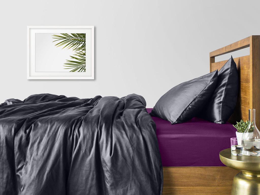 Комплект семейного постельного белья сатин GREY VIOLET-S