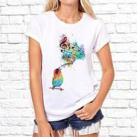Жіноча футболка з принтом Співоча пташка Push IT