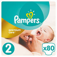 Подгузники (Памперсы) Pampers Premium Care Премиум кеар №2 (3-6 кг) 80шт