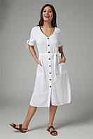 Женская пляжная туника белого цвета на пуговицах опт, фото 1
