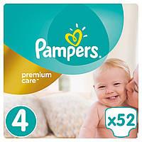 Подгузники (Памперсы) Pampers Premium Care Премиум кеар №4 (7-18 кг) 52шт