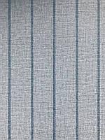Виниловые обои на флизелине  Sirpi  Alta Gamma Kilt 24253 полосы серые с бирюзой синее