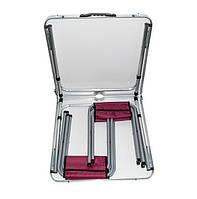 🔝 Набор мебели для пикника раскладной столик +4 стула, складной стол-чемодан на природу, Красный кедр, Туристичні крісла, гамаки, Туристические
