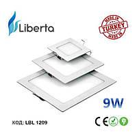 Светодиодная панель встраиваемая квадратная Liberta Турция 9W
