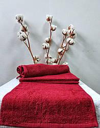 Махровое полотенце 30х50 Nostra (Без Бордюра) Бордовое