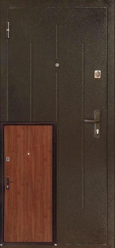 Нестандартные металлические входные двери метал/МДФ 190 см.