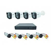 Комплект видео наблюдения Регистратор + 4 проводных камер CCTV DVR KIT CAD D001 1,3mp\4ch