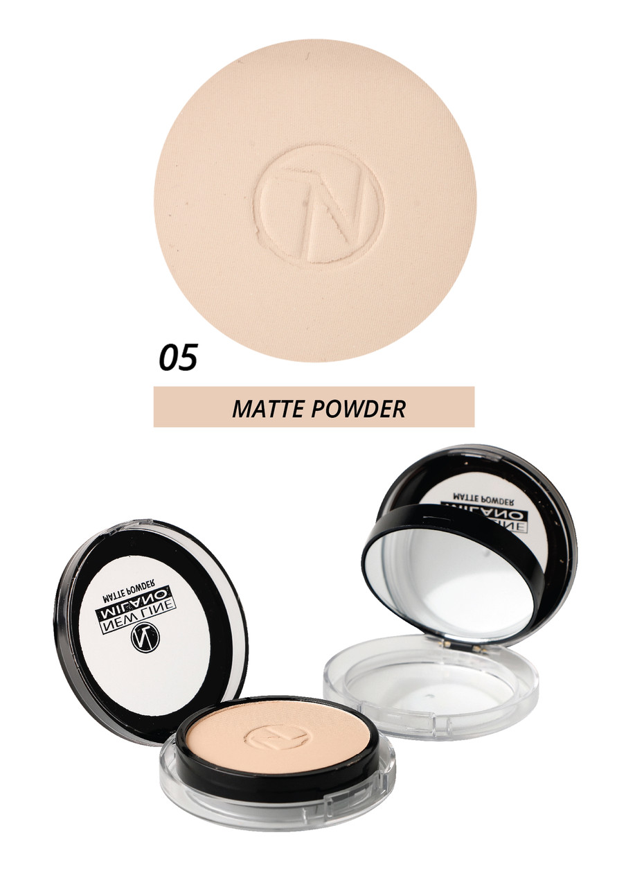Матуюча компактна пудра - matte powder New Line Milano