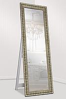 Зеркало напольное factura в пластиковом багете с опорной деревянной подставкой 60х174 см стальной, фото 1
