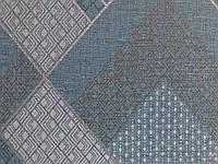 Вінілові шпалери на флізелін Sirpi Alta Gamma Kilt 24220 ромби геометрія смарагдова сіра коричнева зелена, фото 1