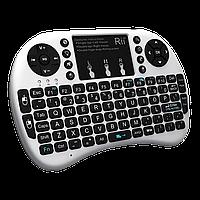 Беспроводная клавиатура с тачпадом wireless MWK08 (I8) белая
