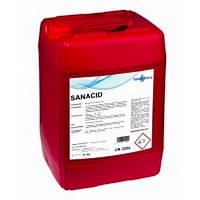 Кислотный жидкое средство SaneChem SANACID для мытья в системе CIP, 25/200 кг