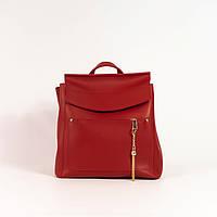 Жіночий наплічник-сумка (рюкзак) у 5-и кольорах. Формат А4. Червоний.