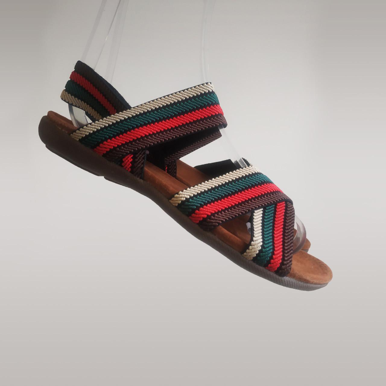 Босоножки шлепанцы на плоской подошве широкая резинка разные цвета низкий каблук