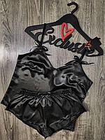 Черная пижама майка+шорты 097.