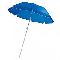 Пляжний вуличний круглий зонт 2 м синього кольору з Anti-UV защитойм