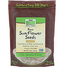 "Сырые семена подсолнечника NOW Foods, Real Food ""Raw Sunflower Seeds"" без соли (454 г)"
