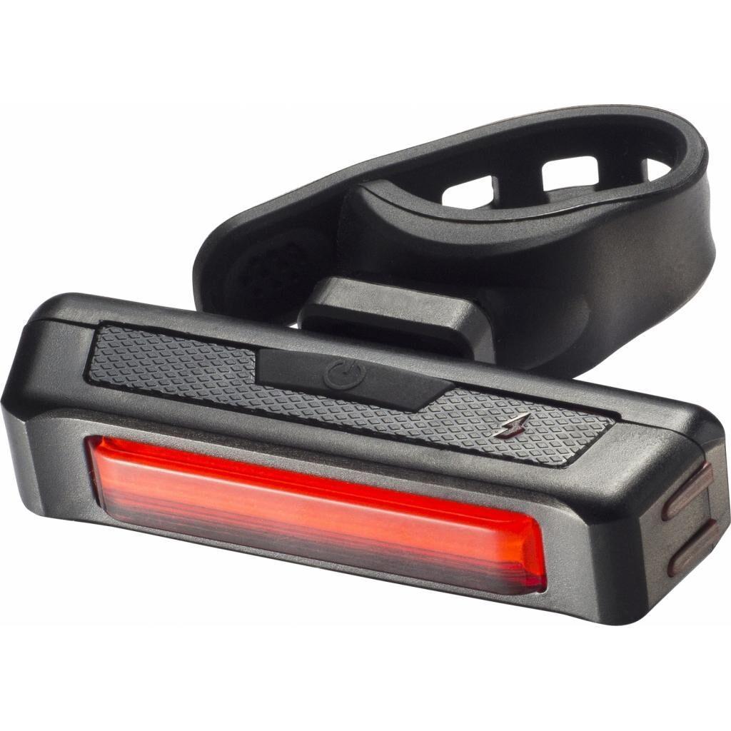 Фонарь велосипедный Velotrade габаритный задний (прямоугольник) BC-TL5429 красный LED USB (LTSS-021)