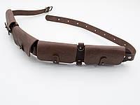 Патронташ на пояс на 24 патрона 20 калибр закрытый кожаный коричневый 5100/20/2, фото 1