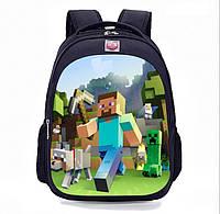 Школьный рюкзак 1-2 класс Minecraft Майнкрафт с принтом