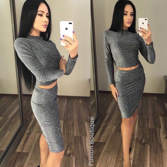 юбочный осенний костюм оптом Arut оптовый интернет магазин женской одежды арут