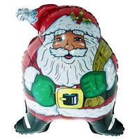 Фольгированный шар  Супер Санта 60см х 45см Красный
