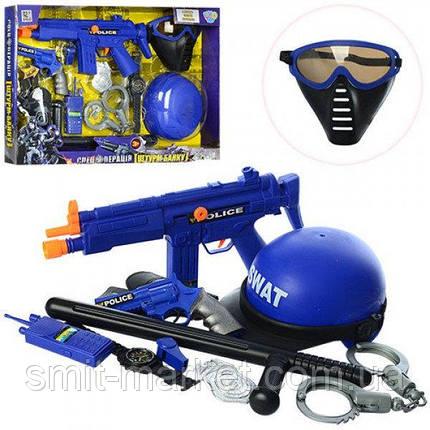 Набор полиции 33540  каска, маска, автомат, пистолет, кобура, наручники, фото 2