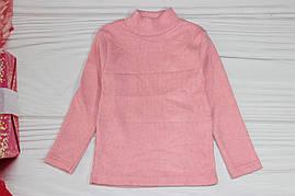 Гольф для девочки розовый с напылением ангоры Турция от 5 до 8 лет